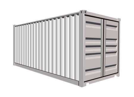container freight: White container on white background