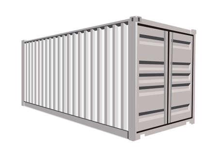 Witte container op een witte achtergrond