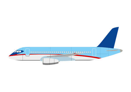 illuminator: Airliner superjet 100 on white background