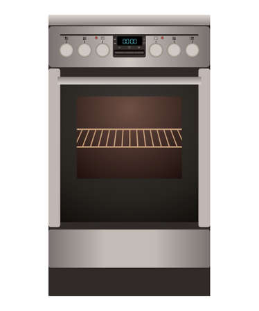 out of gas: Gas cooker on a white background