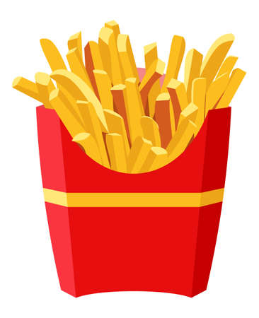 Full red box of French fries