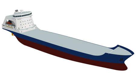 Empty tanker on white background