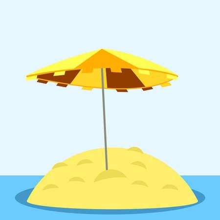 sandy: Umbrella on the sandy island