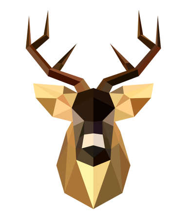 Abstract deer head on a white background Vector