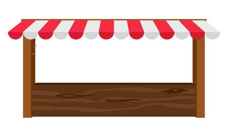 canopy: Empty wooden counter with canopy