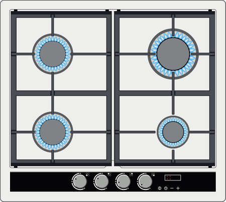 cooktop: stove top view
