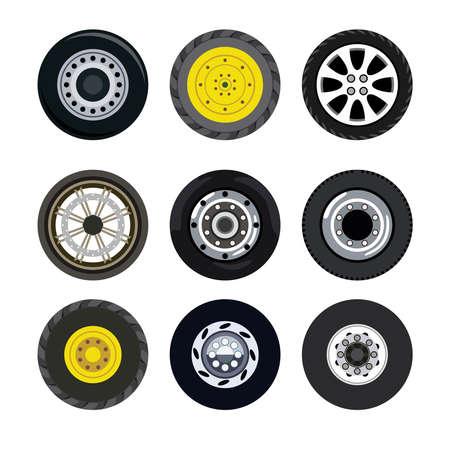 motorizado: Diferentes ruedas en el transporte terrestre