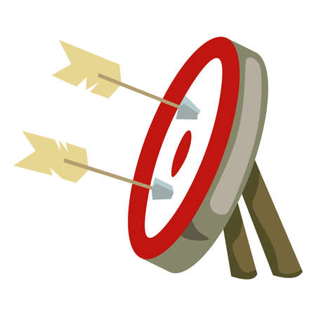 Red target with arrows on a white background Vector