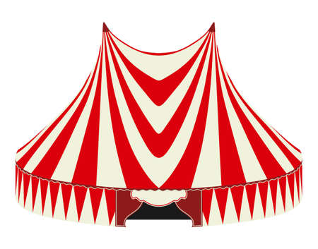 tarpaulin: Circus tent on a white background Illustration