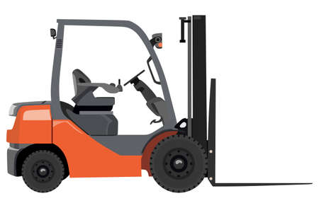 distribution picking up: Empty loader on a white background Illustration