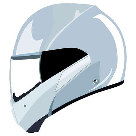 Motorcycle helmet on a white background Illustration