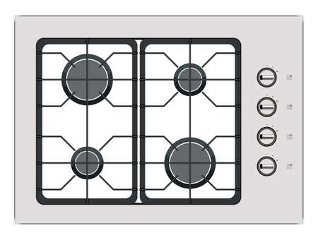 cooktop: Gray shut down gas stove