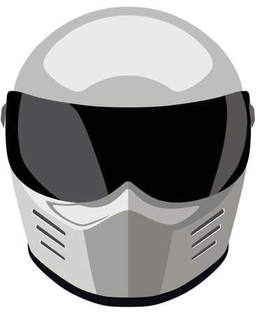 motorradhelm: Wei� Motorrad-Helm auf einem wei�en Hintergrund