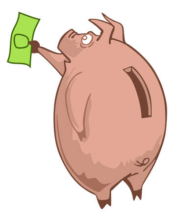 bacon art: Pig piggy bank the feed bill