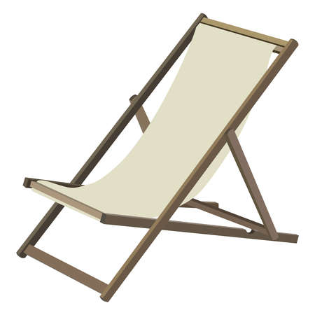 chaise lounge: Wooden chaise lounge on a white background