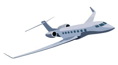 avion caricatura: Jet avi�n sobre un fondo blanco