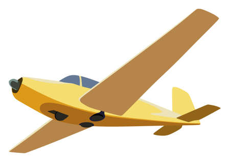 Screw plane on a white background
