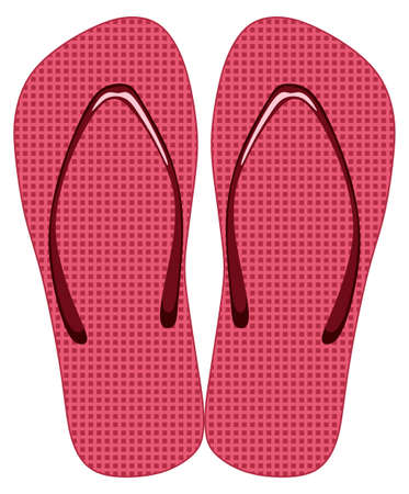 footware: Pink slippers on a white background
