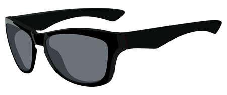 Schwarze Sonnenbrille Seitenansicht auf weißem Hintergrund Standard-Bild - 40374299