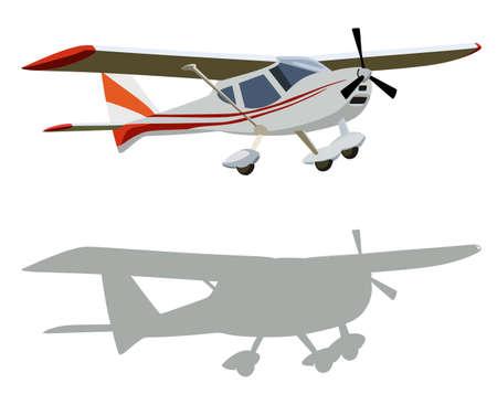 piloting: Screw plane on a white background