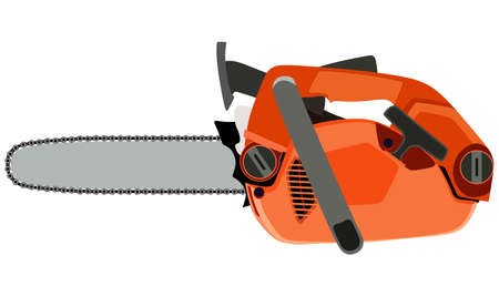 chain saw: Chain saw on a white background