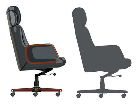 diminishing view: Comfortable office chair on a white background