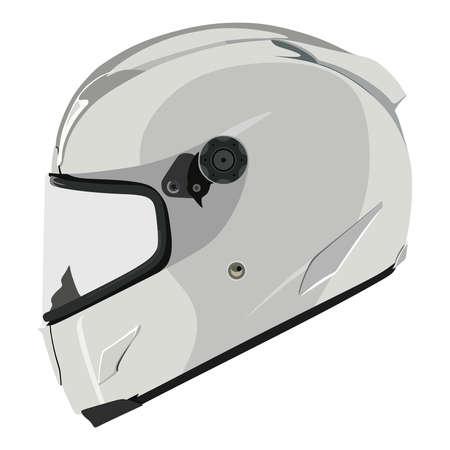 casco de moto: Casco de la motocicleta sobre un fondo blanco
