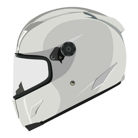 helmet safety: Motorcycle helmet on a white background Illustration