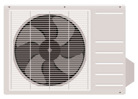 coolant temperature: Outside the air conditioner on a white background Illustration