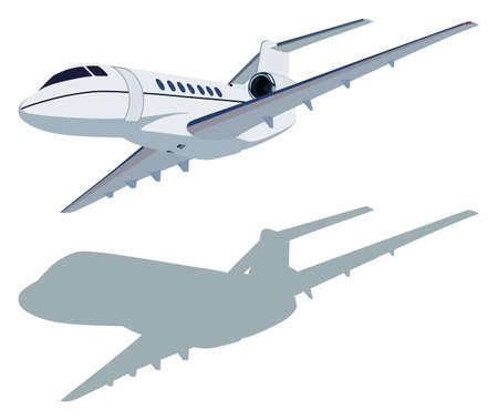 boeing: Jet airplane on a white background Illustration