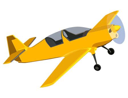 Schrauben Sie Flugzeug auf weißem Hintergrund Standard-Bild - 40967092