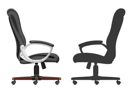 comfortable: Comfortable office chair on a white background