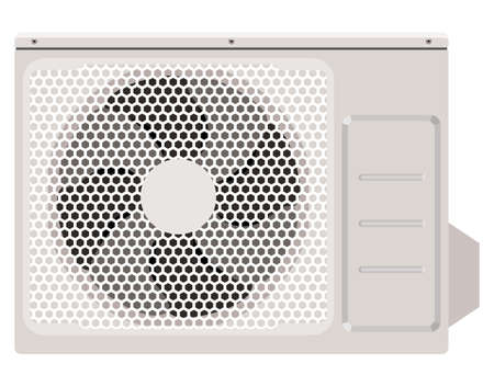 air condition: Outside the air conditioner on a white background Illustration