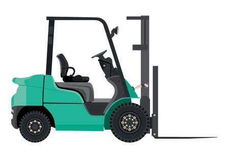 distribution picking up: Green loader on a white background Illustration