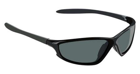 eyewear fashion: Sunglasses sports on a white background Illustration