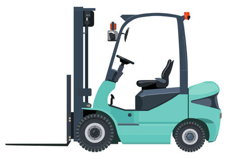 work crate: Green loader on a white background Illustration