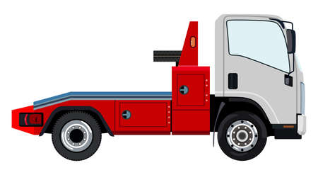 Tow truck on a white background