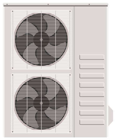 alternating current: Outside the air conditioner on a white background Illustration