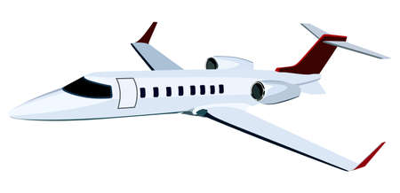jet airplane: Jet airplane on a white background Illustration