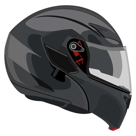 motorradhelm: Motorradhelm auf wei�em Hintergrund