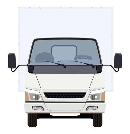 Die Frontseite des leichten Nutzfahrzeugs auf einem weißen Hintergrund Standard-Bild - 45284452