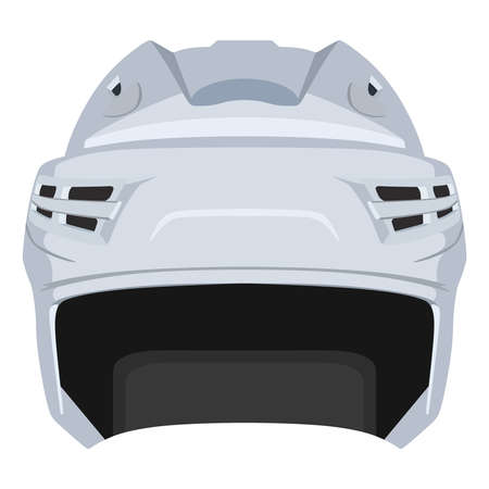 on white: White hockey helmet on a white background