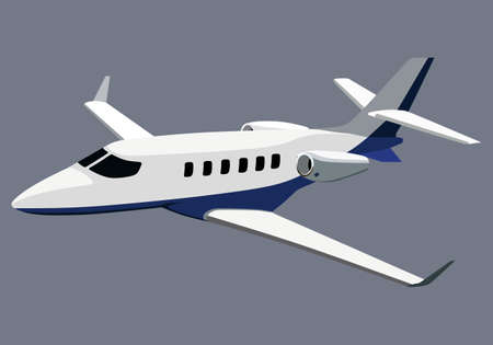 private jet: Jet airplane on a blue background