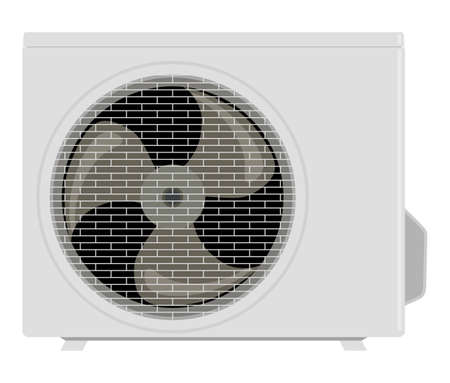 refrigerant: Outside the air conditioner on a white background Illustration