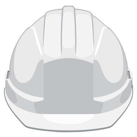 White construction helmet front view Stock Illustratie