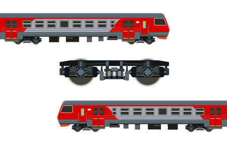 wagon: Detailed train on a white background