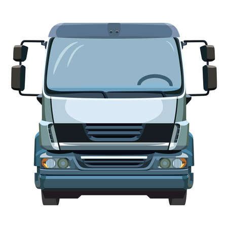 front wheel drive: Front of the truck on a white background Illustration