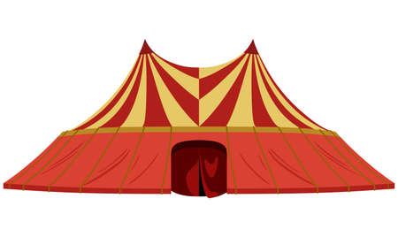 Circus tent on a white background Illustration
