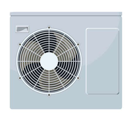 Outside the air conditioner on a white background Illustration
