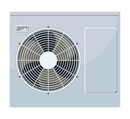 Außerhalb der Klimaanlage auf einem weißen Hintergrund Standard-Bild - 47867886